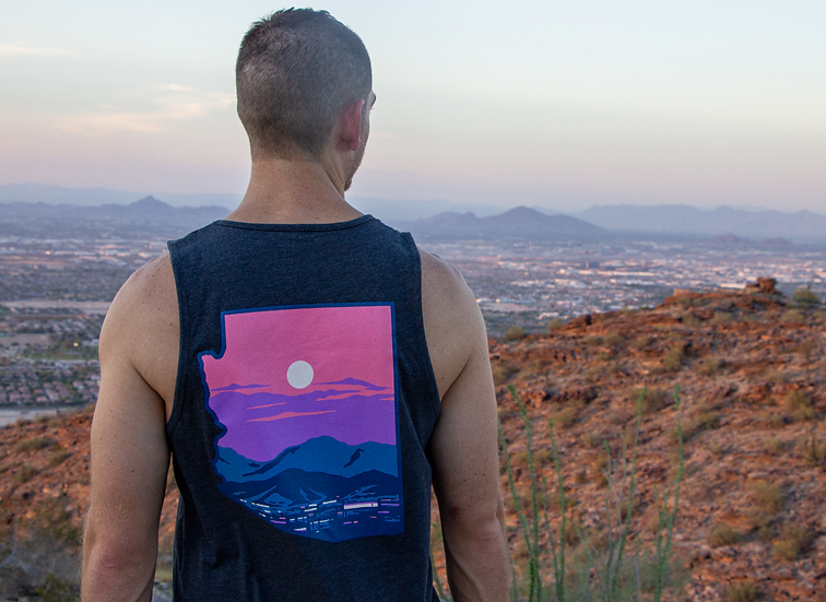 Charcoal Tank Top Phoenix Sunset
