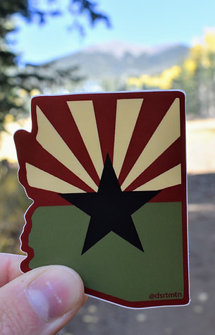 Nature AZ Flag Sticker