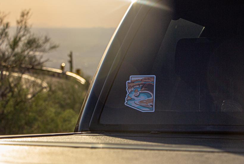 Desert Lake Bumper Sticker