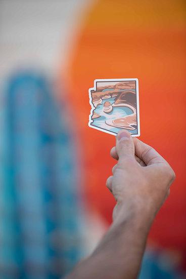 Desert Lake Sticker