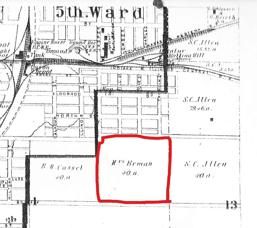 1874 Atlas. The earliest map showing East William 20 feet north after Jasper St.