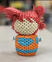 by Jacob Ramos Tomas origami sculpture 6th grade
