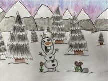 by Rita Ventura colored pencil 6th grade