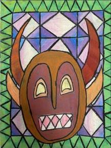 by Ashley Lopez oil pastel 6th grade