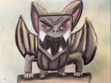 by Pedro Silva Ramos  charcoal and tempera 6th grade
