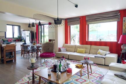 Cuisine et Salon par Sabrina Alvarez, Décoratrice et Architecte d'intérieur UFDI en Ile de France 91 92 75