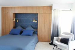 chambre bleue et bois