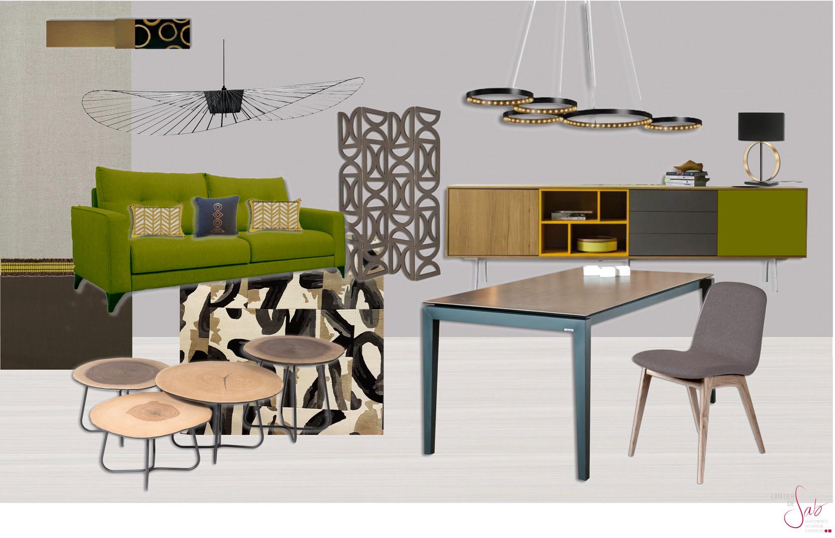 Planche de style contemporain salon bruno