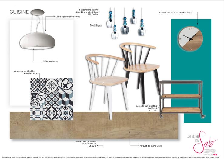 Planche de style cuisine par Sabrina Alvarez, Décoratrice et Architecte d'intérieur UFDI en Ile de France 91 92 75