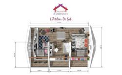 Vue 3D combles- L'Atelier de Sab