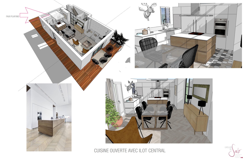 3D cuisine black&white