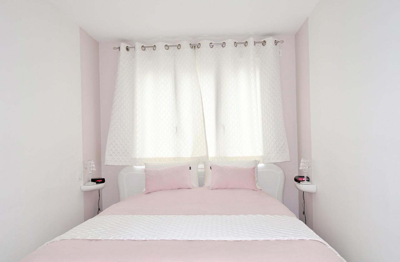chambre parentale roseet blanche