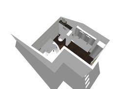 Vue 3D Salle de bain Montgeron