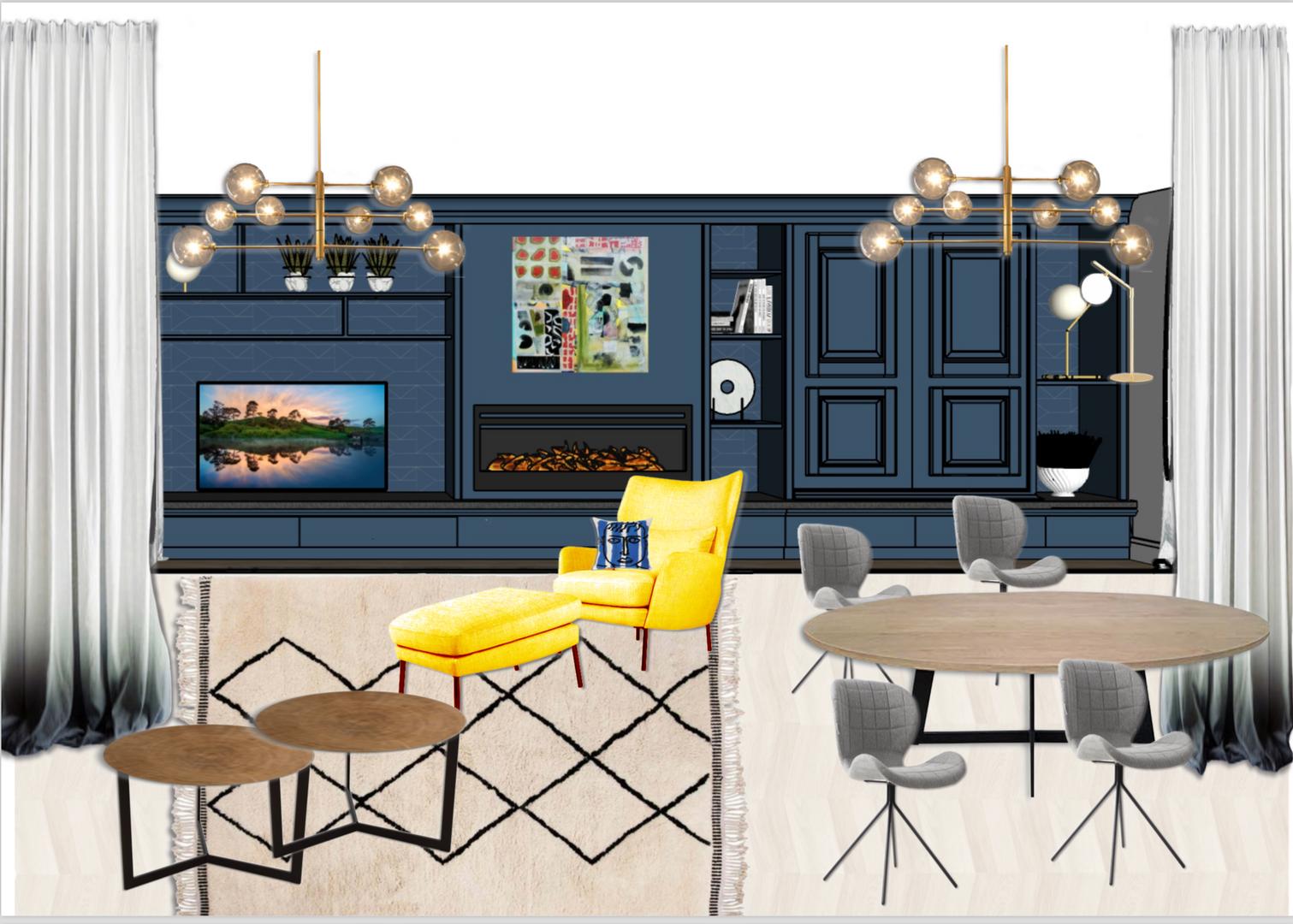 Planche d'ambiance décoration par Sabrina Alvarez, Décoratrice et Architecte d'intérieur UFDI en Ile de France 91 92 75
