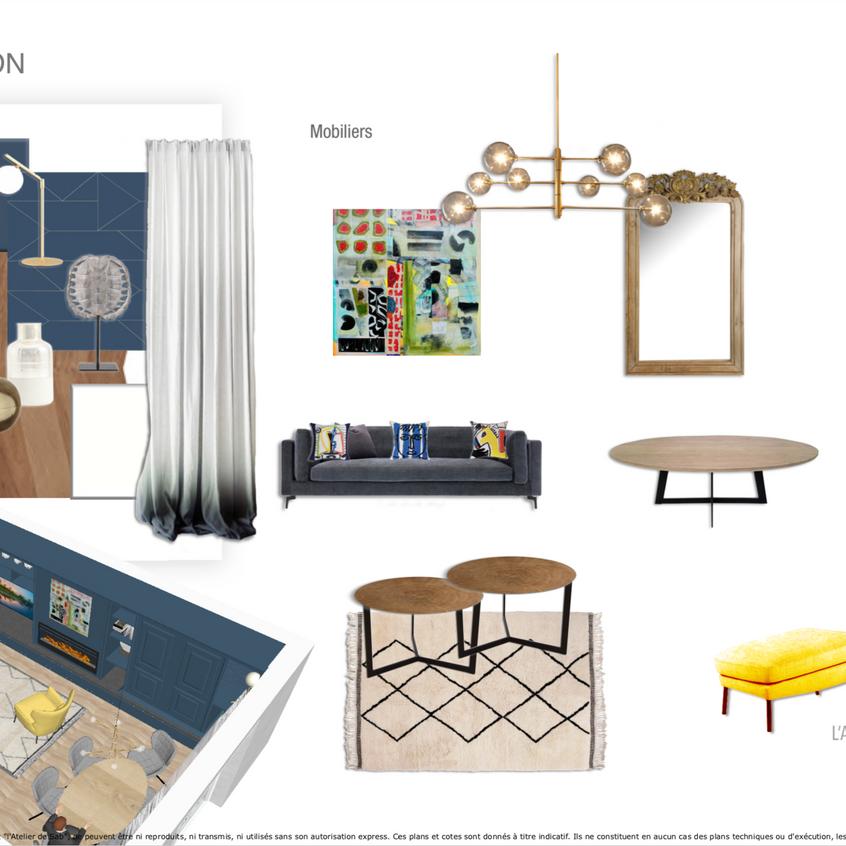 En détail le mobilier fourni par l'Atelier de Sab