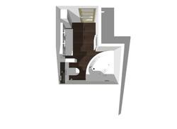 Plan 3D Salle de bain Montgeron