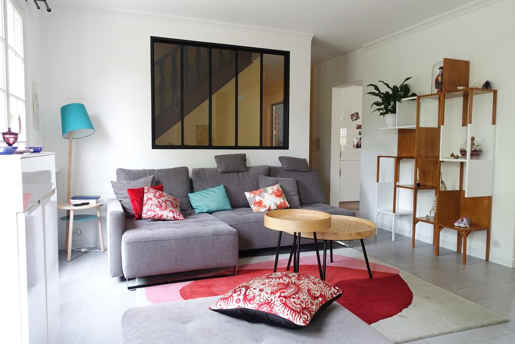 Décoration de salon par Sabrina Alvarez, L'Atelier de Sab, Décoratrice et Architecte d'intérieur UFDI en Ile de France 91 92 75