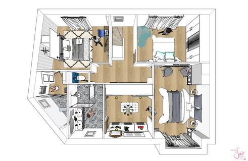 Plans 3D maison par Sabrina Alvarez, ADécoratrice et Architecte d'intérieur UFDI en Ile de France 91 92 75