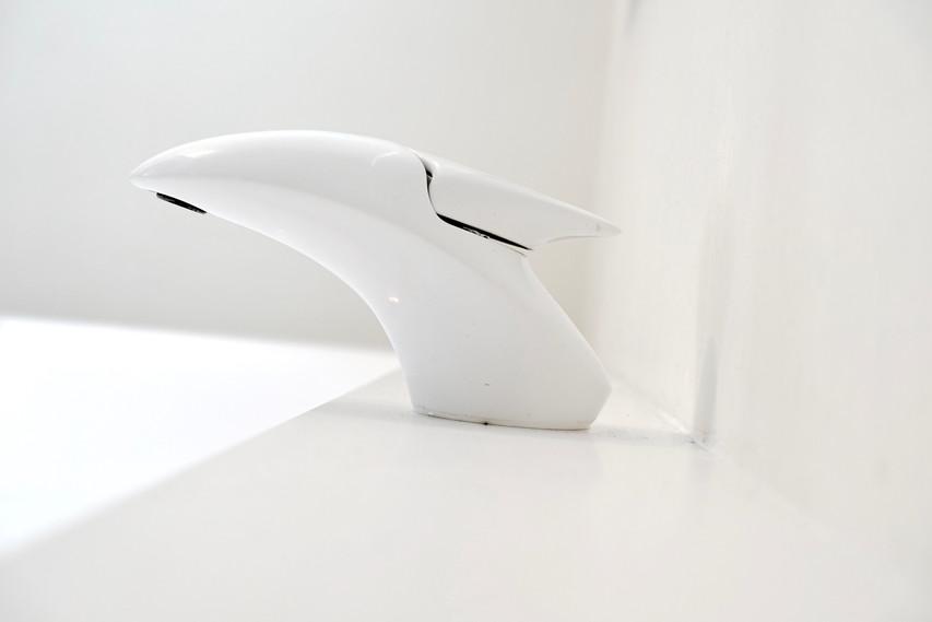 robinet design total blanc