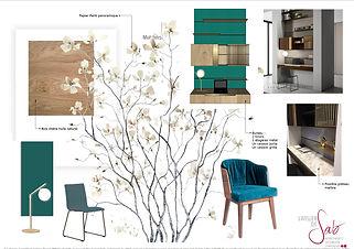 Planche de style en Décoration par Sabrina Alvarez, Architecte d'intérieur et Décoratrice UFDI dans l'Essonne 91