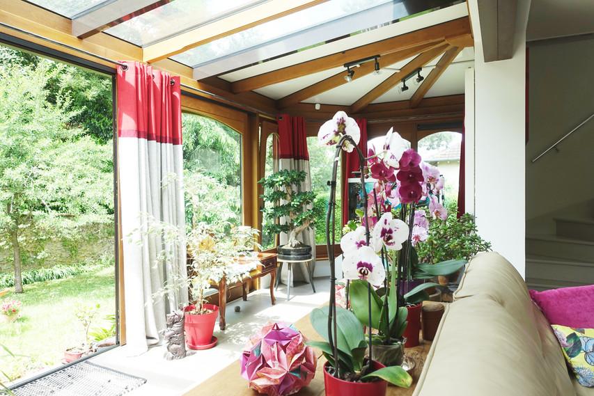 veranda sur le jardin