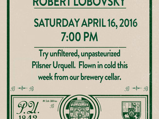 Pilsner Urquell Tapping - April 16th