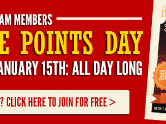 Double Points Day: January 15th