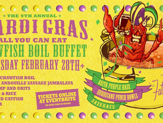 Crawfish Boil Mardi Gras at Fat Cat