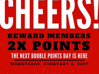Double Points Day: February 8th