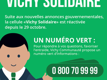 0 800 70 99 99 Vichy Solidaire