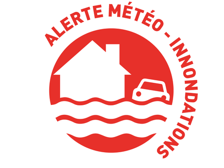 ATTENTION ALERTE Orages Pluie Inondation sur notre COMMUNE plusieurs routes barrées !