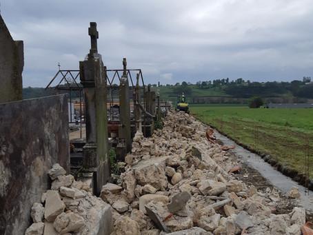 Début des travaux de rénovation du cimetière