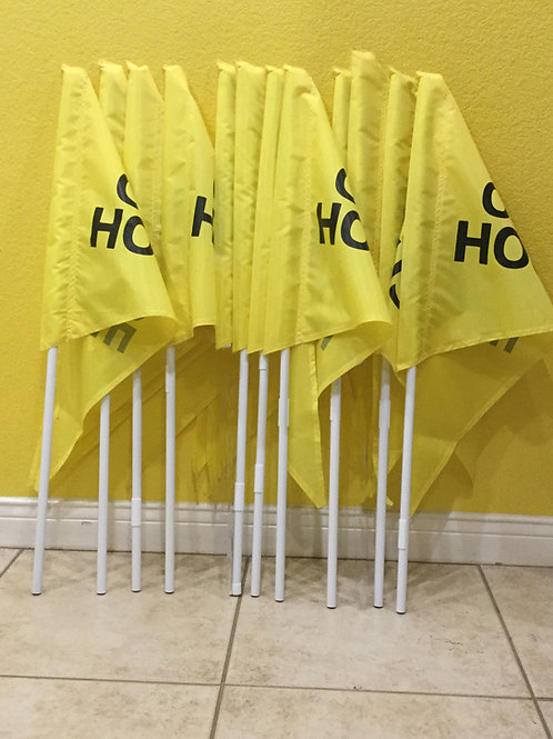 Package of 10 Yellow flags and 10 Poles(Ten 3 foot Poles)