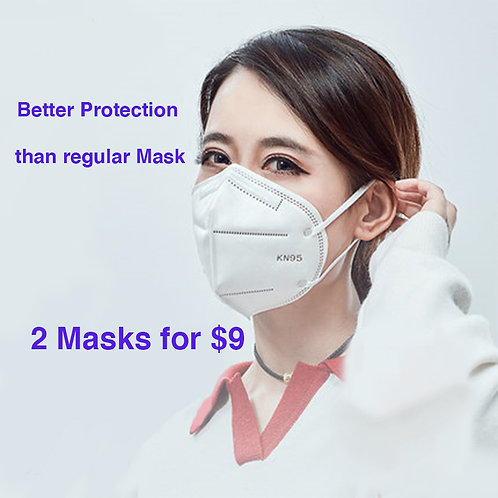 KN95 MASK FOR PROTECTION OF  COVID 19 pack of 2
