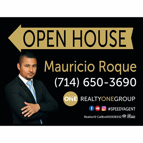 Realty One Group Custom Open House Sign (Order minimum 10) 2 free pennant flags