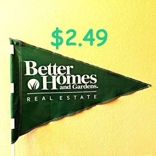 """Better Homes & Gardens  Flag Green with White Letters 19"""" x 31"""" Just 22 left"""