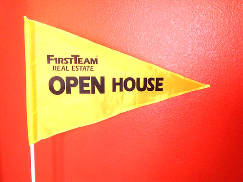 """First Team Flag Yellow with Black Letters 19"""" x 31"""" just 38 left"""