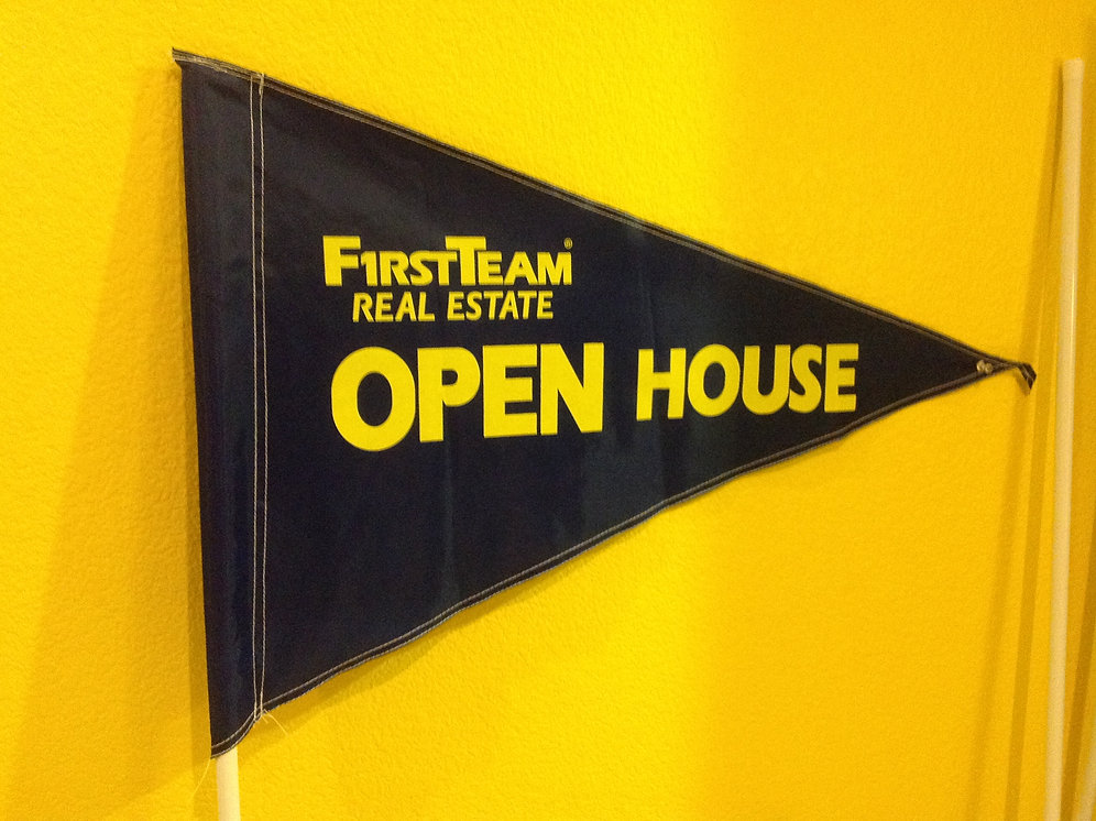 First Team Flag Blue with Yellow letters | openhouse