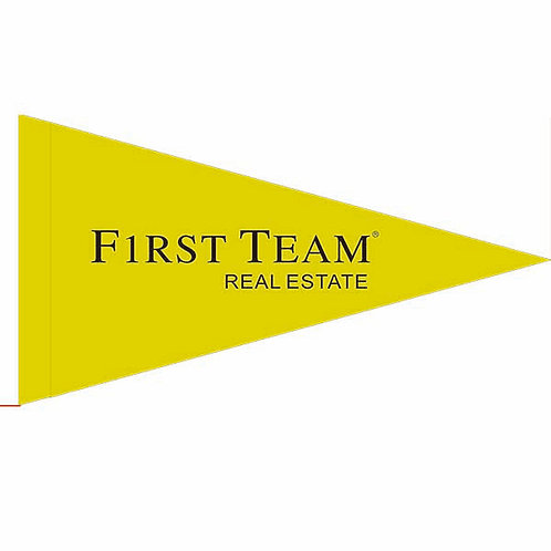 "First Team Flag Yellow with Black letters 19"" x 31""just 35 left"