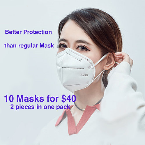 KN95 MASK FOR PROTECTION OF  COVID 19 pack of 10