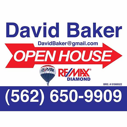 Remax Custom Open House Sign (Order minimum 10) 2 free pennant flags
