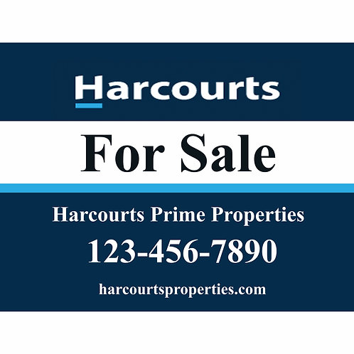 Harcourts Custom  Sign (Order minimum 10) 2 free pennant flags