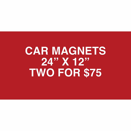 Custom CAR MAGNETS (2 FOR $75) 3 free pennant flags with the order