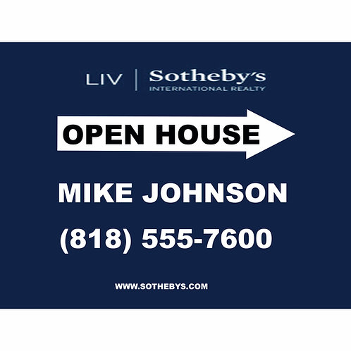 Sotheby's Custom So Open House Sign (Order minimum 10) 2 free pennant flags