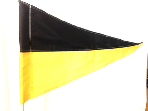 "Black and Yellow Flag 19"" x 31"""
