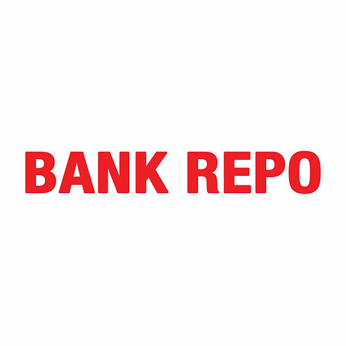 "BANK REPO RIDER Double-Sided  (Size 18"" x 4"")"