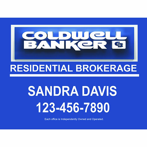 Coldwell Banker Custom For Sale  Sign