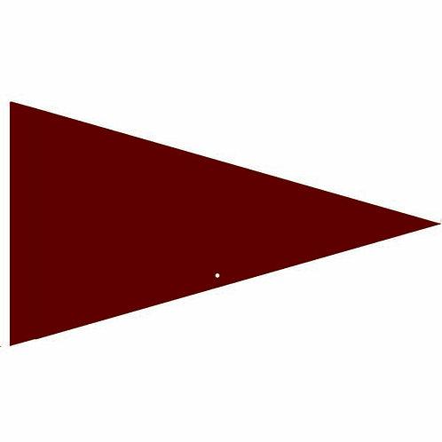 "Flag Solid Burgundy 19"" x 31"""