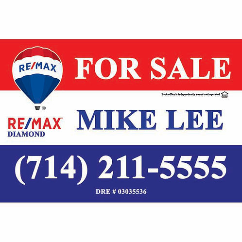Remax Custom For Sale  Sign