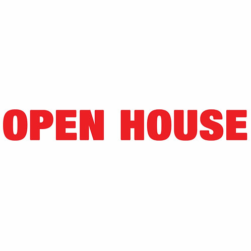 """OPEN HOUSE RIDER Double-Sided (Size 18"""" x 4"""")"""